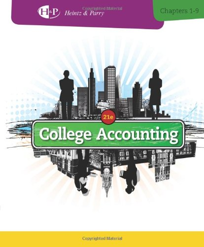 College Accounting: Chapters 1-9  2013 edition cover
