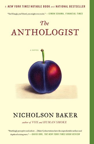 Anthologist A Novel N/A edition cover