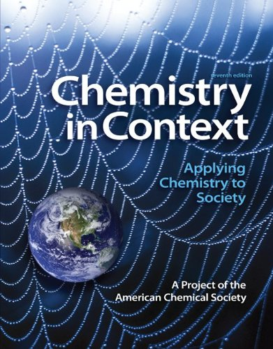 Chemistry in Context Applying Chemistry to Society 7th 2012 edition cover