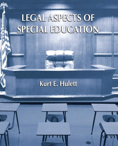 Legal Aspects of Special Education   2009 edition cover