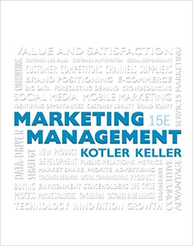 Marketing Management  15th 2016 9780133856460 Front Cover