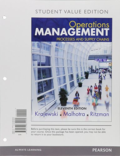 Operations Management: Processes and Supply Chains, Value Edition  2015 edition cover