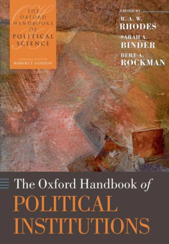 Oxford Handbook of Political Institutions   2008 edition cover