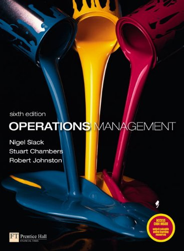 Operations Management  6th 2010 edition cover