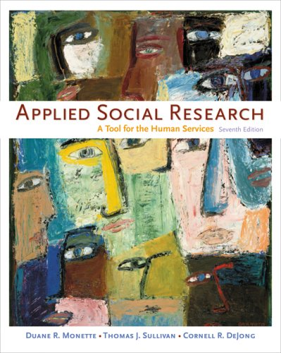 Applied Social Research A Tool for the Human Services 7th 2008 (Revised) edition cover