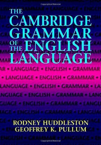 Cambridge Grammar of the English Language   2002 edition cover
