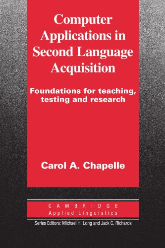 Computer Applications in Second Language Acquisition   2000 edition cover