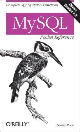 MySQL Pocket Reference   2003 edition cover