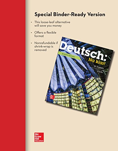 Deutsch: Na Klar an Introductory German Course  2015 edition cover
