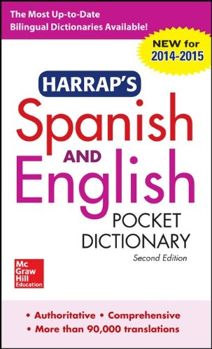 Harrap's Spanish and English Pocket Dictionary  2nd 2014 edition cover