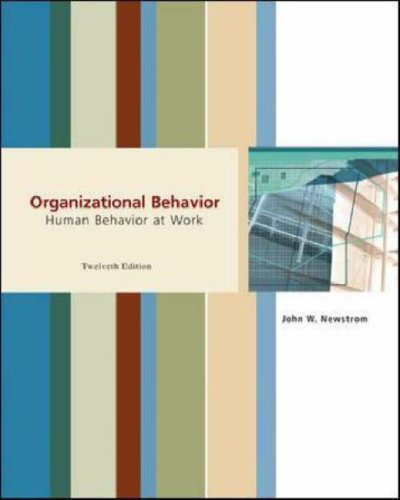 Organizational Behavior Human Behavior at Work 12th 2007 (Revised) edition cover