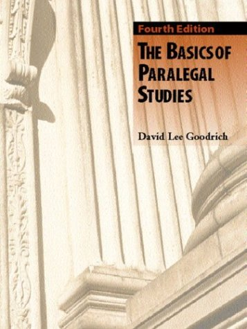 Basics of Paralegal Studies  4th 2004 (Revised) 9780131121461 Front Cover