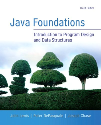 Java Foundations  3rd 2014 9780133370461 Front Cover