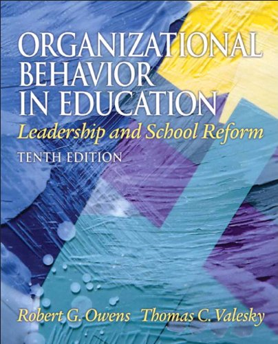 Organizational Behavior in Education Leadership and School Reform 10th 2011 edition cover