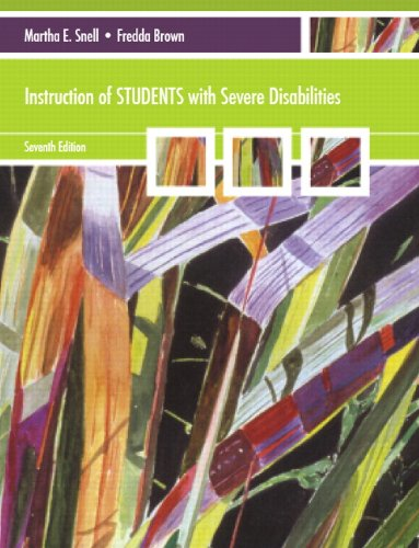 Instruction of Students with Severe Disabilities  7th 2011 edition cover