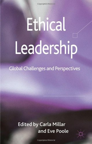 Ethical Leadership Global Challenges and Perspectives  2011 9780230275461 Front Cover