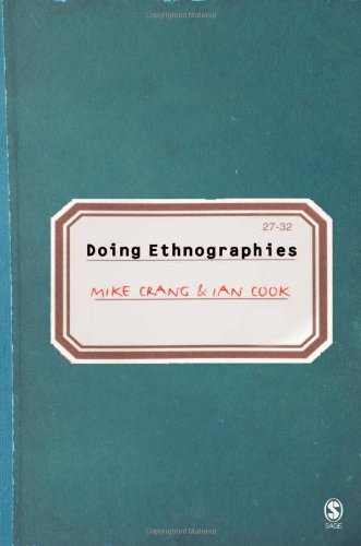 Doing Ethnographies   2007 edition cover