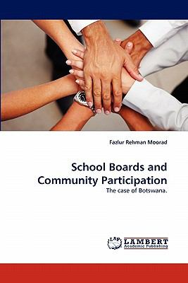 School Boards and Community Participation  N/A 9783838399461 Front Cover