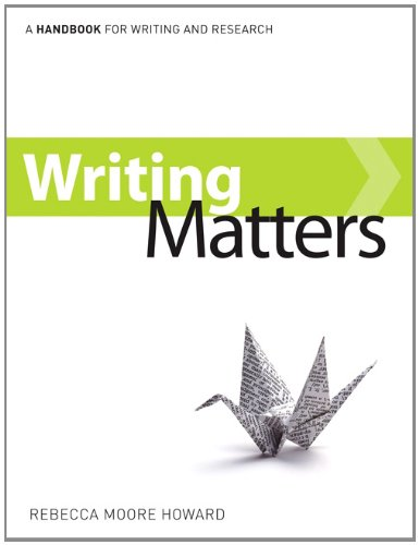 Writing Matters   2011 edition cover