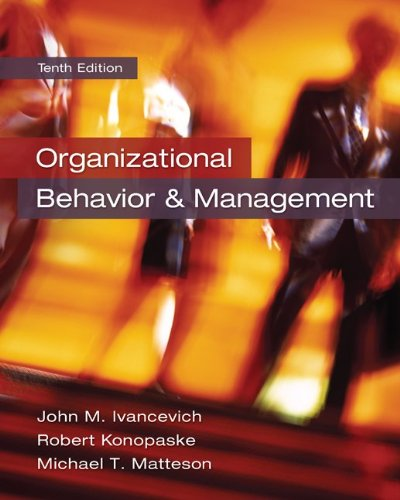 Organizational Behavior and Management  10th 2014 9780078029462 Front Cover