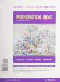 Mathematical Ideas + New Mymathlab With Pearson Etext: Books a La Carte Edition  2015 edition cover