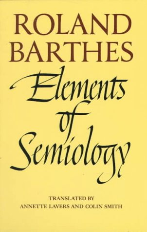 Elements of Semiology   1973 edition cover