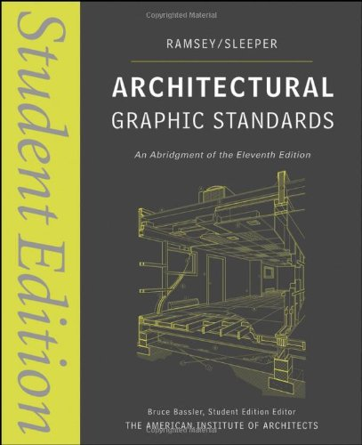 Architectural Graphic Standards  11th 2008 (Student Manual, Study Guide, etc.) edition cover