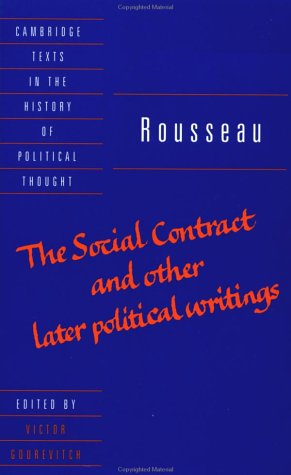 Social Contract and Other Later Political Writings   1997 edition cover