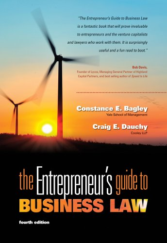 Entrepreneur's Guide to Business Law  4th 2012 9780538466462 Front Cover
