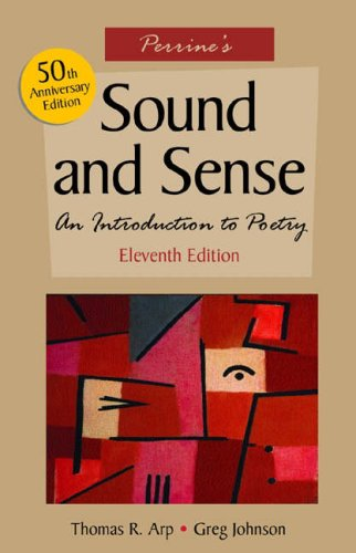 Perrine's Sound and Sense An Introduction to Poetry 11th 2005 (Revised) edition cover