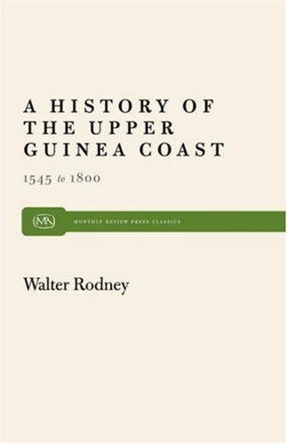History of the Upper Guinea Coast, 1545-1800  Reprint edition cover