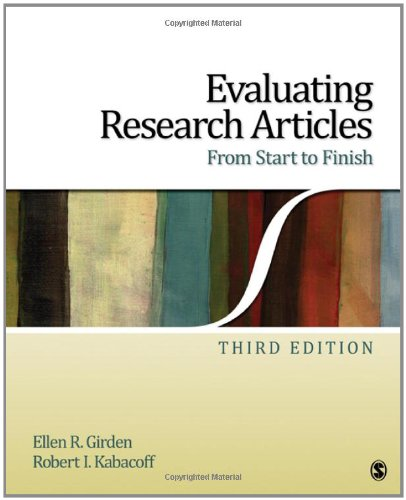 Evaluating Research Articles from Start to Finish  3rd 2010 edition cover