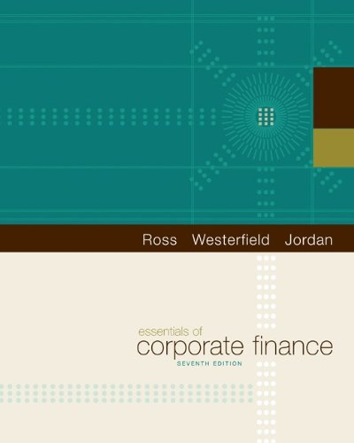 Essentials of Corporate Finance  7th 2011 9780073382463 Front Cover