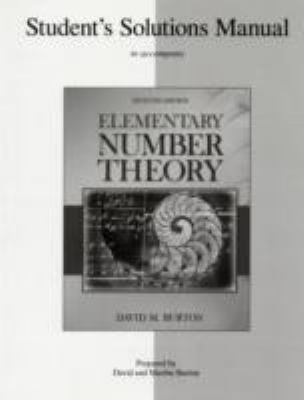 Student's Solutions Manual Elementary Number Theory  7th 2011 edition cover