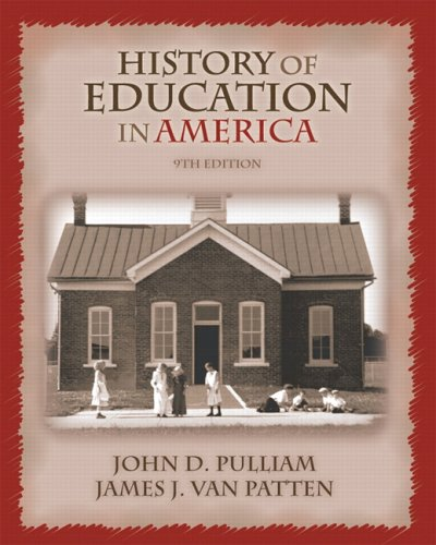 History of Education in America  9th 2007 (Revised) edition cover
