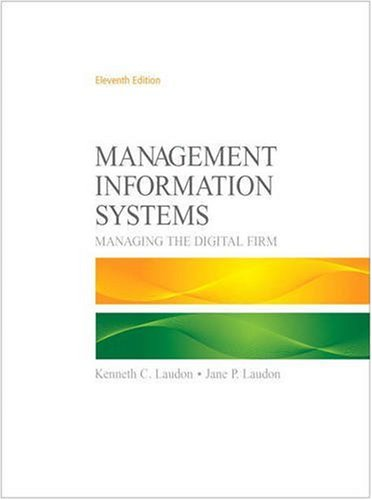 Management Information Systems  11th 2010 edition cover