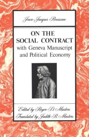 On the Social Contract With Geneva Manuscript and Political Economy  1978 edition cover