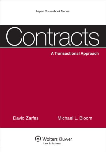 Contracts A Transactional Approach  2011 edition cover