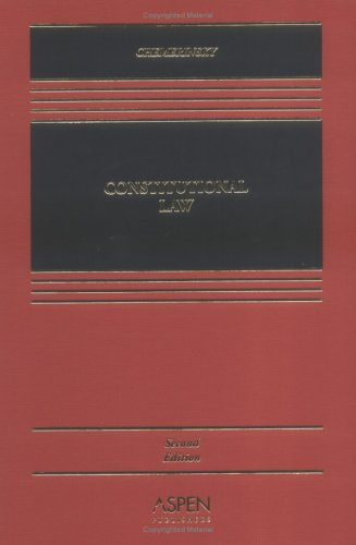 Constitutional Law  2nd 2005 (Revised) 9780735549463 Front Cover