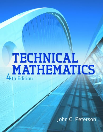 Technical Mathematics  4th 2013 edition cover