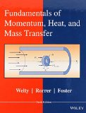 Fundamentals of Momentum, Heat, and Mass Transfer  6th 2015 edition cover