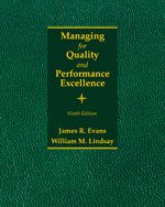 Managing for Quality and Performance Excellence: 9th 2013 9781285069463 Front Cover