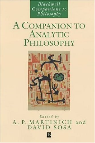 Companion to Analytic Philosophy   2005 edition cover