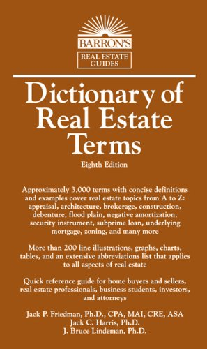 Dictionary of Real Estate Terms  8th 2013 (Revised) edition cover
