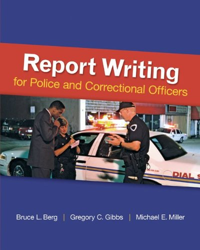 Report Writing for Police and Correctional Officers   2013 edition cover
