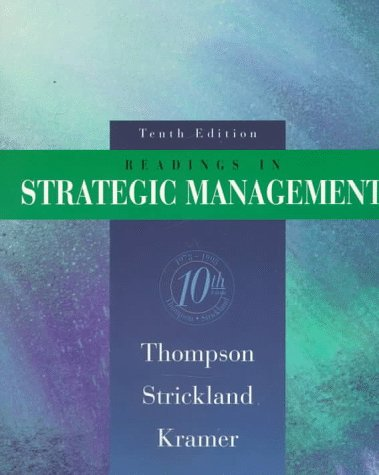 Readings in Strategic Management  10th 1998 9780256241464 Front Cover