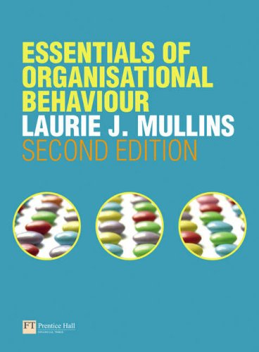 Essentials of Organisational Behaviour  2nd 2008 9780273716464 Front Cover
