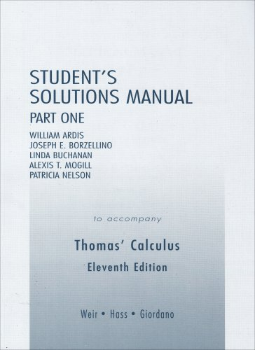Student Solutions Manual  11th 2008 9780321226464 Front Cover