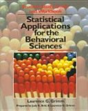 Statistical Applications for the Behavioral Sciences   1992 (Workbook) edition cover