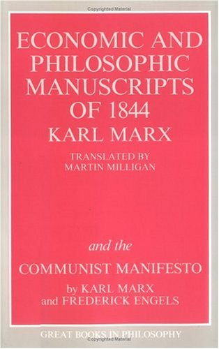 Economic and Philosophic Manuscripts of 1844 and the Communist Manifesto  Unabridged  edition cover